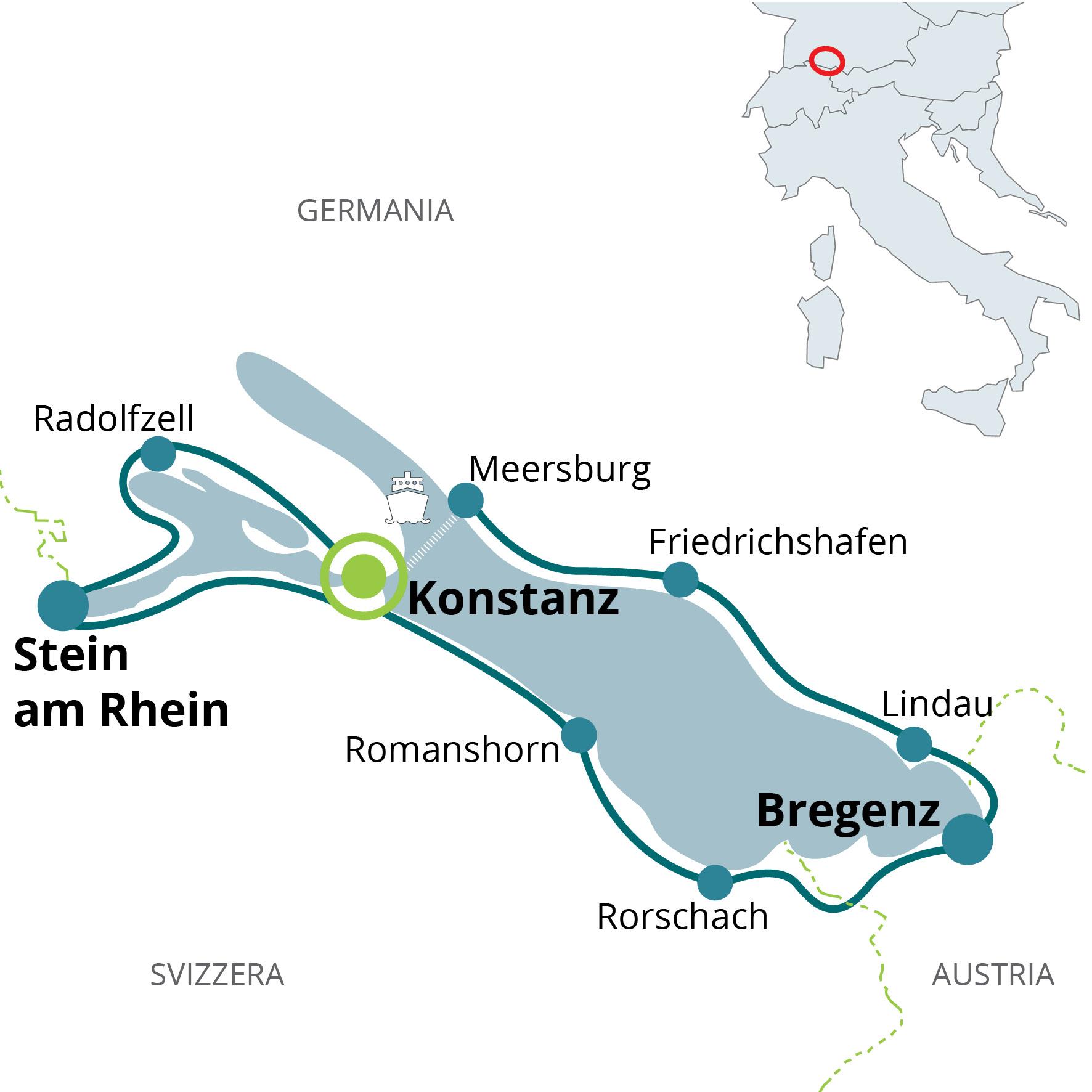 Lago Di Costanza Germania Cartina.Vacanza In Bici Sul Lago Di Costanza Per Sportivi Funactive Tours